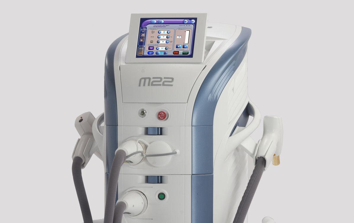 Многофункциональная платформа M22 Lumenis – уникальный по своей эффективности аппарат для лечения дерматологических проблем и кожных дефектов